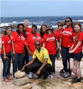 Rutgers-Camden students on a recent trip to South Africa.