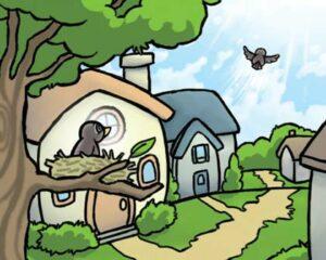 Graphic design major Rob Miyamoto drew this for MFA student Doreen Fera's children's book.