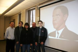 Pictured (left to right) are LiQin Tan, Chris Hengen, Jacquelyn Riel, Javier Diaz, and Brandon Borrelli