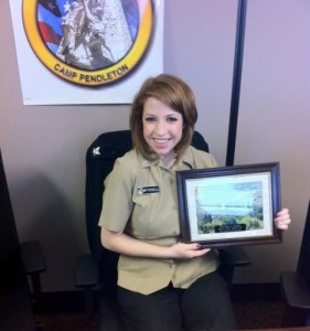 Shaina Mitchell in February 2011, while serving as a U.S. Navy Hospital Corpsman