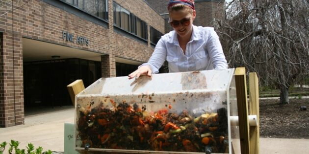 Rutgers–Camden Student's Environmentally Friendly Art Project Teaches Campus Community About Composting