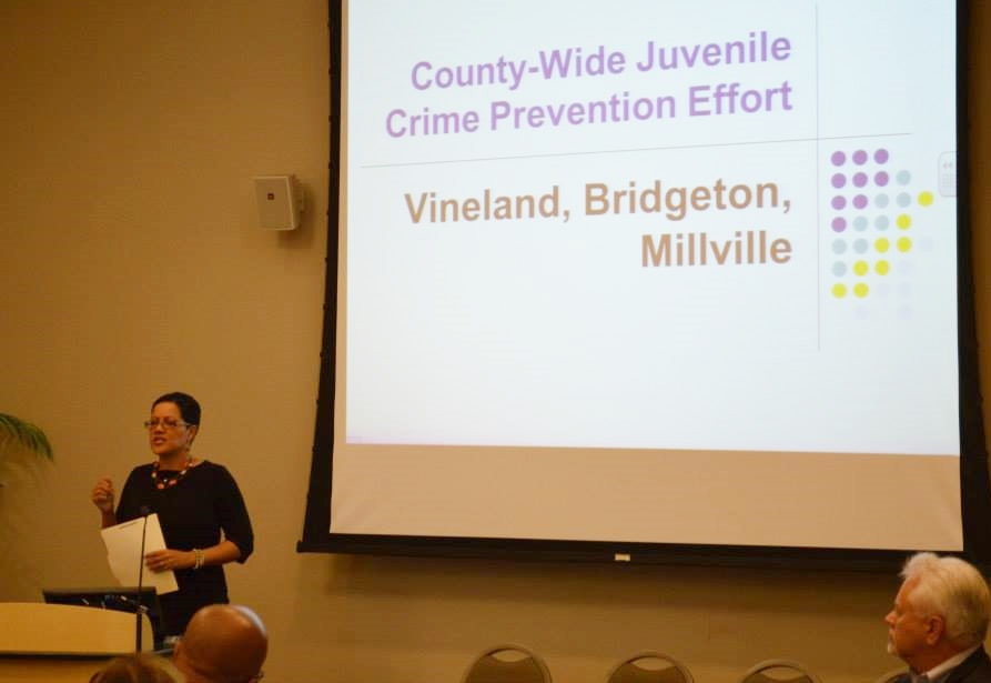 Cumberland County Prosecutor Jennifer Webb-McRae addresses Cumberland County leaders.