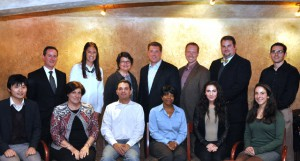 Andrew Shipe (back row, center) meets with Rutgers-Camden MBA students.