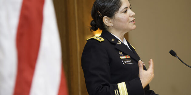 Judge Advocate General Flora Darpino helps Rutgers–Camden Commemorate Veterans Day
