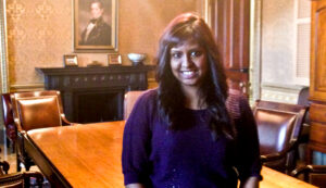 Rutgers-Camden graduate Salima Mostafa is interning at the White House.