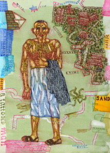 "Arpita Singh, ""Cain (?) The Wanderer,"" 2012, watercolor on paper, 16 x 11.5 in."