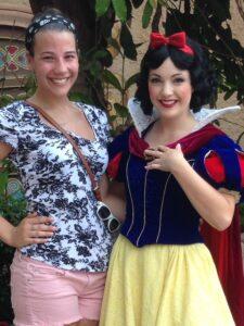 Danielle DeVito poses for a photo with Snow White at the Disney College Program.