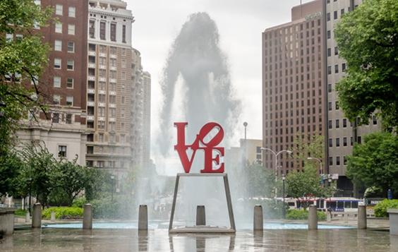 Love Statue in Philadelphia
