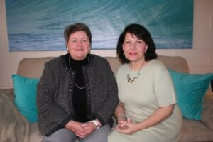 Patricia Sayers (left) and Marian Nowak will serve as United Nations delegates.