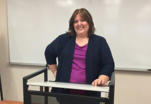 Kim Didenko is a founding member of Rutgers-Camden's Toastmasters chapter.