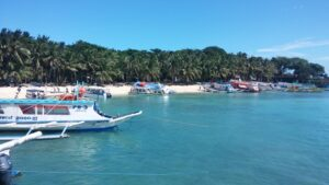 A photo of the Port of Boracay in the Philippines, taken by Valenzuela.