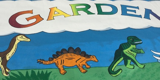The Light of Day: Graduate Paints Outdoor Mural for Camden Children's Garden