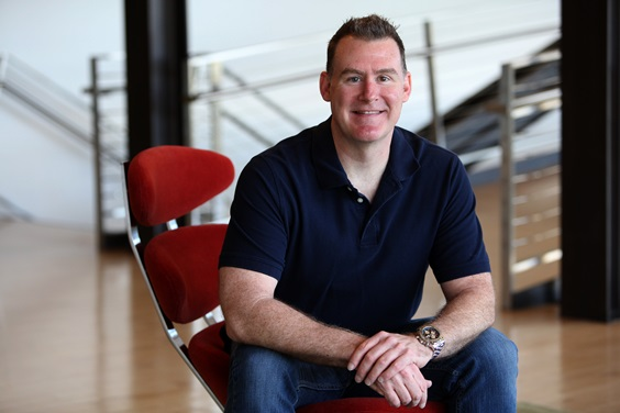 Kevin O'Hara on August 5, 2015 at Pixar Animation Studios in Emeryville, Calif. (Photo by Deborah Coleman / Pixar)