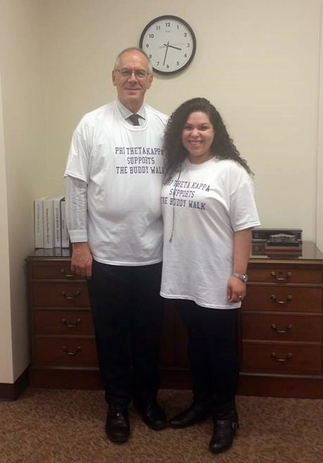 Crystal Pagan-Perez with Camden County College President Raymond Yannuzzi.