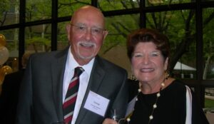 George Suleta CCAS'61 and Gerrie Suleta CCAS'66 at a recent Rutgers-Camden alumni event.