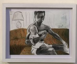 "A painting from Jacob Foster's series ""Me and My Father"""