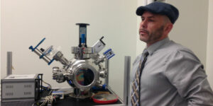 Professor Danny Bubb in the Physics Laser Materials Lab