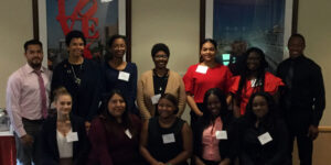 Recipients of the W.W. Smith Scholarships with Chancellor Phoebe Haddon.