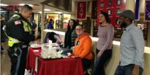 The Tigers group bake sale in the Campus Center