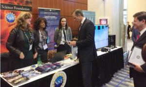 U.S. Senator John Thune visiting the NSF exhibit