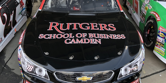 Business School Alumnus Raises Rutgers–Camden Banner on Stock Car Circuit