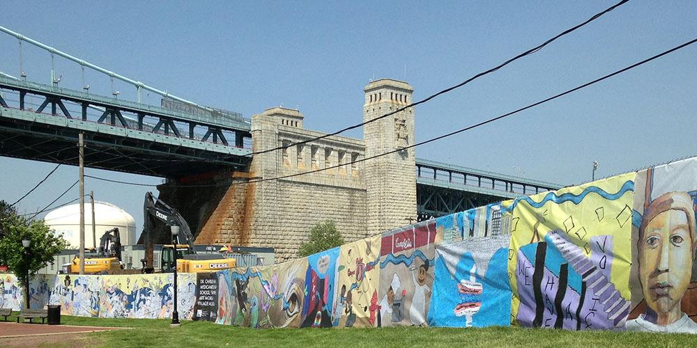 Camden Waterfront mural