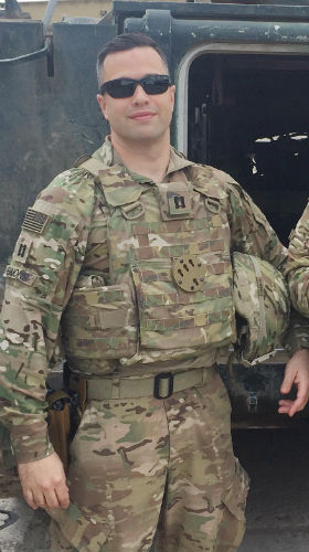 Kevin Emmons serving in Iraq in 2017