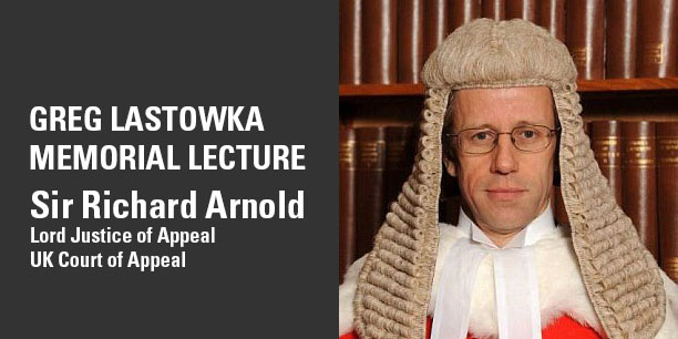 Sir Richard Arnold will present the Greg Lastowka Memorial Lecture