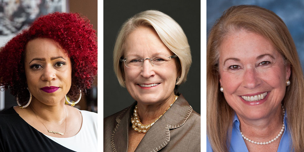 Nikole Hannah-Jones, Judy Perry Martinez, and Judith Persichilli