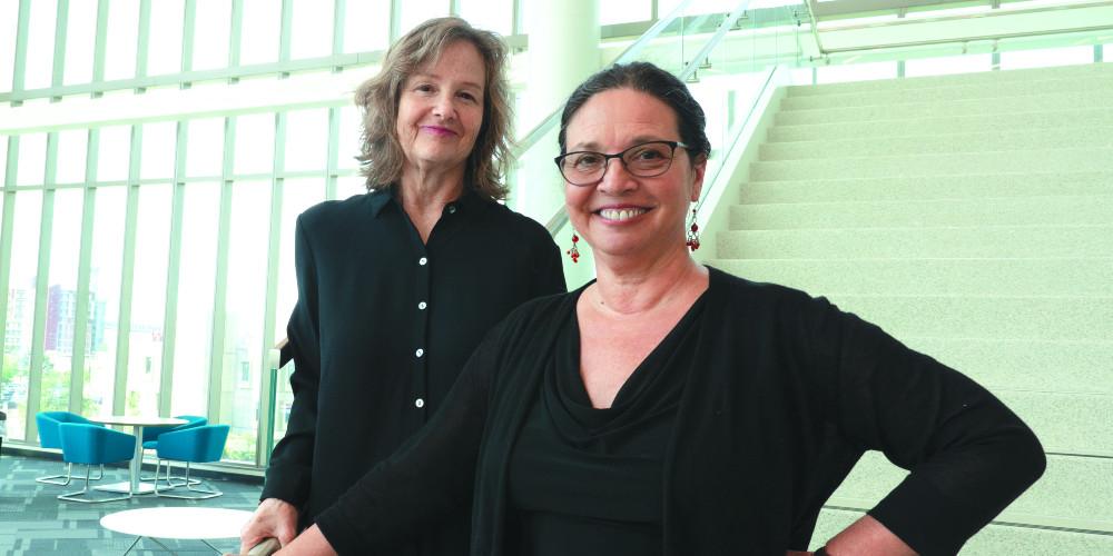 Nursing professors Bonnie Jerome-D'Emilia, left, and Sheila Linz.
