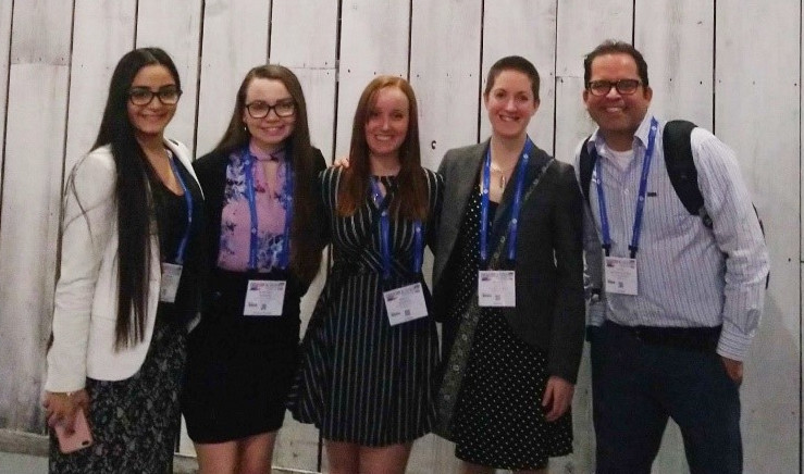 Karleena Rybacki, second from left, at the American Chemical Society 2019 National Meeting and Expo in Orlando, Florida