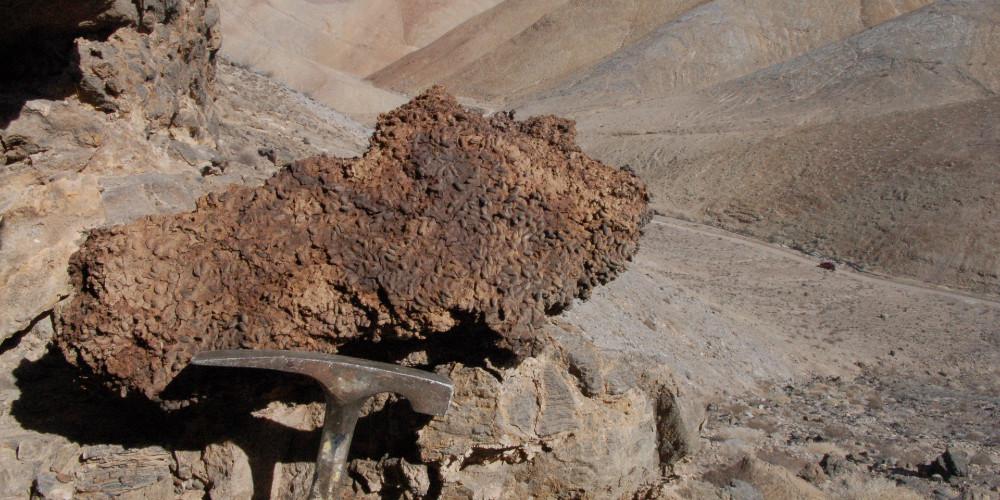 Midden in Atacama Desert in Chile