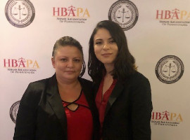 Jenise Rivera and her mother Denise at the Legal Education Fund Scholarship award ceremony