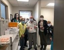 Cooper Hospital workers show their appreciation for the hoagies and pastilillos