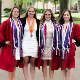 Quadruplets Rachel, Erin, Kelly, Casey (from left to right)